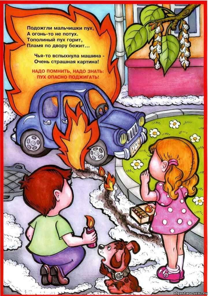рисунки о пожаре для 3 класса